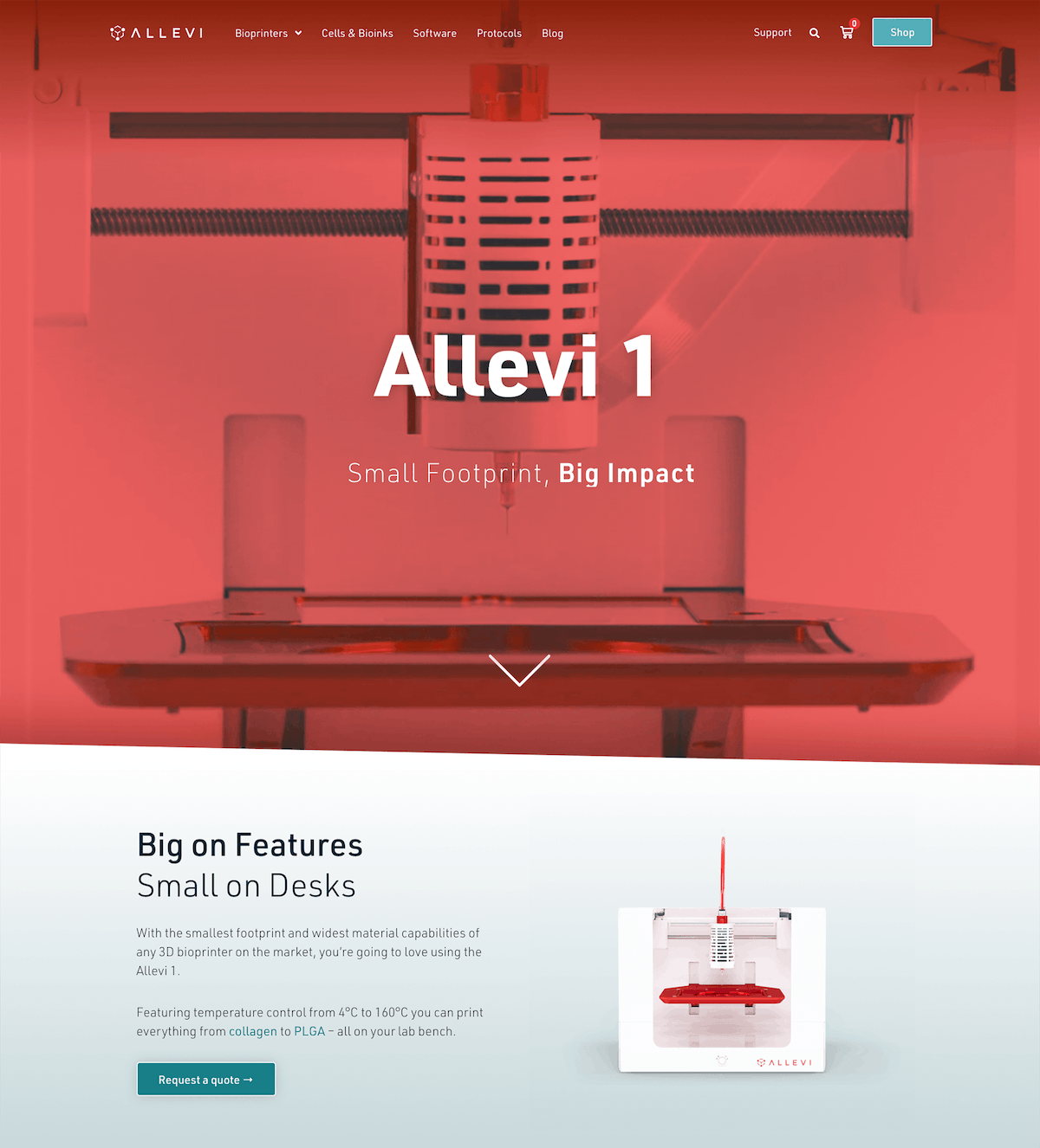 Allevi 1 product page