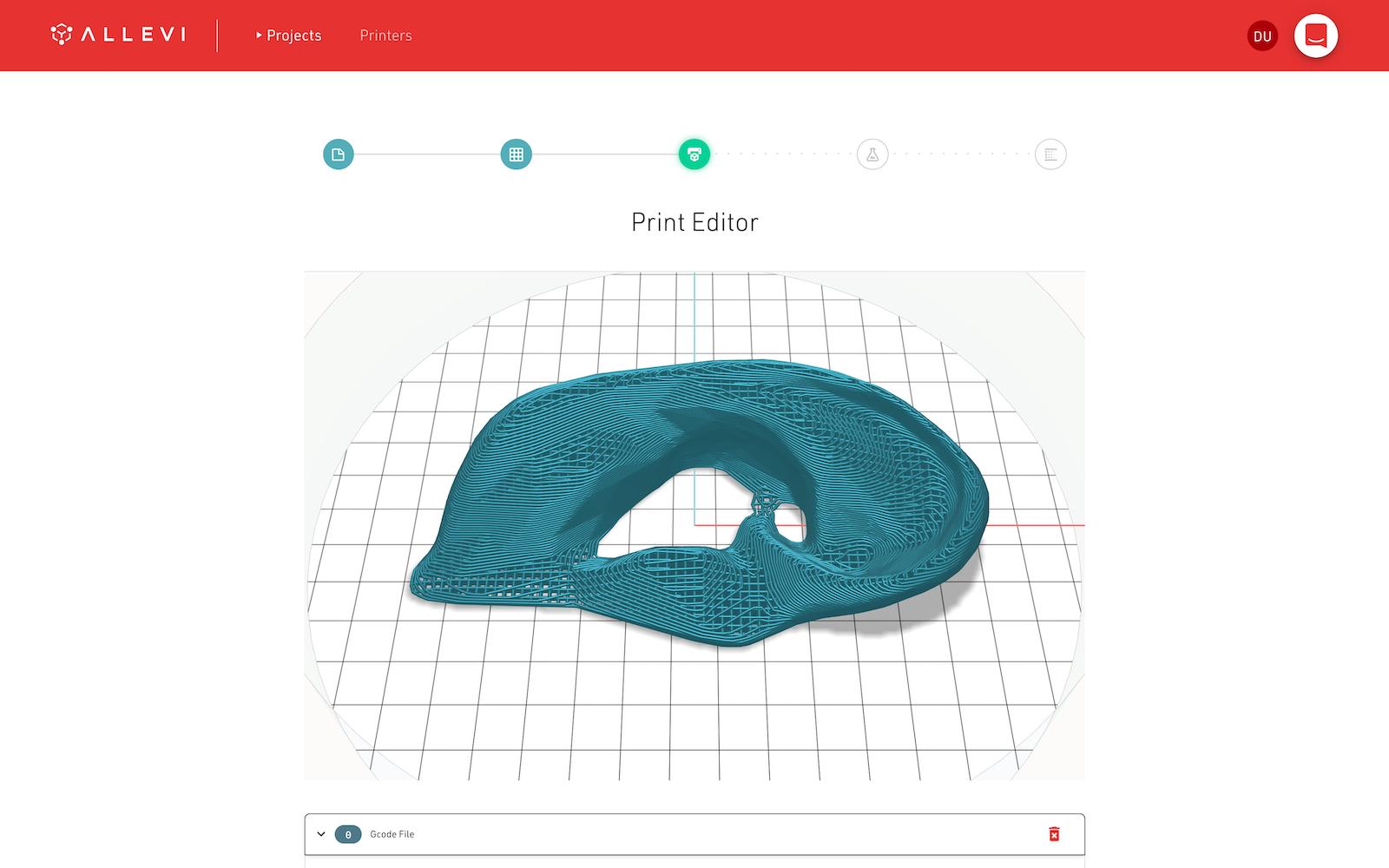 Bioprint Pro 3D print preview