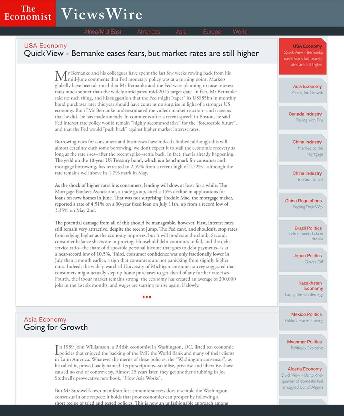 The Economist Viewswire
