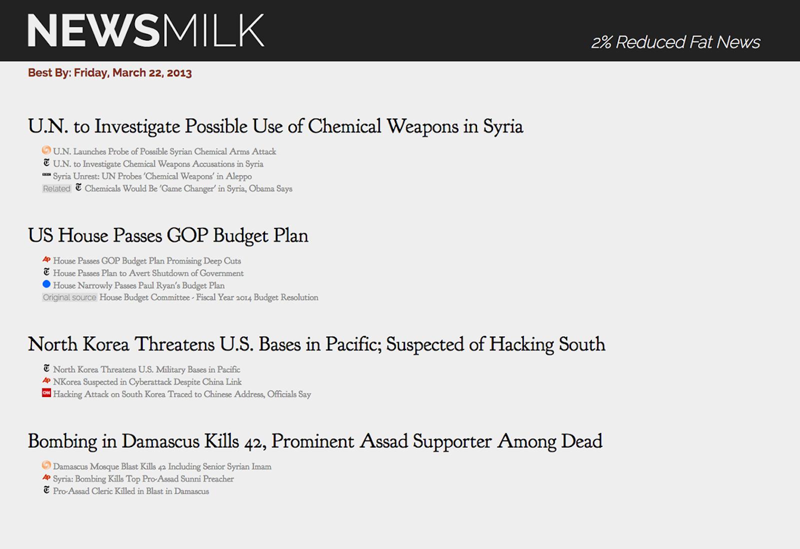 Newsmilk on March 22, 2013